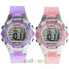 Waterproof Multifunction Sport Electronic Digital Wrist Watch For Child Boy Girl