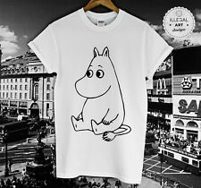 MOOMIN T SHIRT RETRO VINTAGE CARTOON ANIME 1990 LITTLE MY SNUFKIN TOP TEE NEW