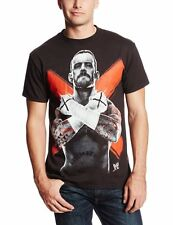 CM Punk Cross Fists WWE Mens Black T-shirt New