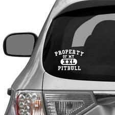 Property Of My Pitbull Vinyl Decal For Car Truck Laptop Ipad Phone Etc - B473