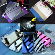 Mirror Front Back Colors Tempered Glass Screen Protector For iPhone + Free Case