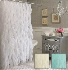 Cascade Voile Semi-Sheer Shower Curtain, Polyester