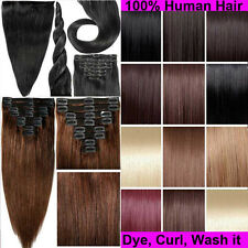 Deluxe AAA 8 piece Clip In Remy Human Hair Extensions Full Head Cheap Price E690