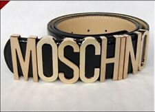 New genuine patent leather Moschino Belt With Gold Letters 80sVGCDustBag&Box 108