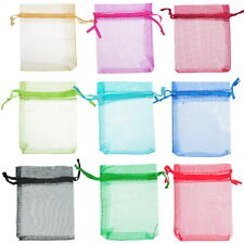 Wholesale Lots 7x9cm Mixed ORGANZA Wedding Favour GIFT BAGS Jewellery Pouches