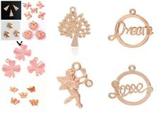 A Selection of Premium Rose Gold Jewellery Making Pendant & Charms - lady-muck1
