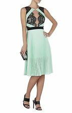 2015 BCBG MAX AZRIA  ARIANNE SCALLOPED-EDGE PLEATED DRESS COCKTAIL ultra-feminin