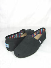 NEW MEN TOMS CLASSIC CANVAS SLIP ON BLACK BLACK 10002931 ORIGINAL