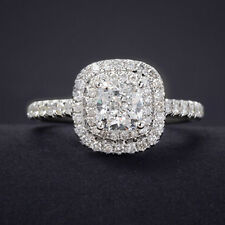 Size 6-9 Diamonique Jewelry Ladys 925 Silver Filled White Sapphire Wedding Ring