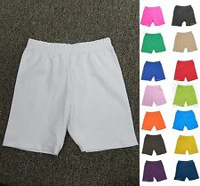 NEW MADE IN US GIRLS COTTON SPANDEX BIKE SPORTS LEGGING SHORTS 2 4 6 8 10 12