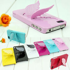 3D Angel Wings Skin Cover Hard Back Case with Stand For Apple iPhone 5 5s TSUS