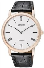 Citizen Eco-Drive Stiletto Leather Japan Sapphire Watch AR1113-04B AR1113-12B