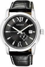Citizen Automatic Sapphire Japan 100m Men's Elegant Leather Watch NJ0050-00E
