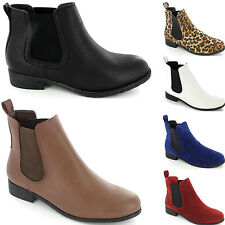 Amazing Ladies Womens Girls Chelsea Boots Ankle Riding Low Heel New Shoe Size