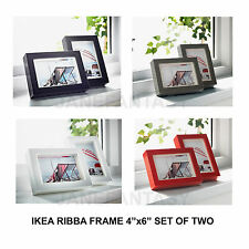 """IKEA RIBBA Photo Picture Frame 4""""x6"""" Set of 2 (Black/White/Gray/Red/Aluminum)"""