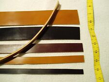 Quality Leather Strips Straps: 3-4mm Thick Bridle: Choose Colour/Length/Width.
