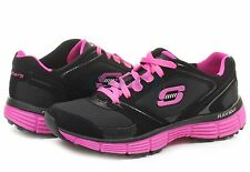 11696 BLACK AND HOT PINK WOMENS SKECHERS AGILITY - REWIND TRAINER  IN.