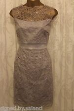Karen Millen Floral Applique Cutwork Lace Flower Embroidery Prom Dress 8 £235