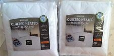 BIDDEFORD QUILTED ELECTRIC HEATED MATTRESS PAD TWIN OR FULL ONE CONTROLLER