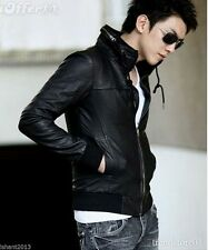 Leather Jacket Men's with Slim fit Design Italian Fashion