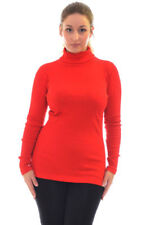 New Womens Vest Ladies Polo Neck Rib T-Shirt Plus Size Top Long Sleeves Nouvelle