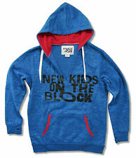 NEW KIDS ON THE BLOCK - THUMBHOLE BLUE PULLOVER HOODIE SWEATSHIRT NEW LADIES