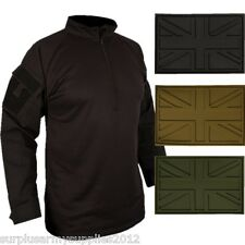 MILITARY UBAC ARMOUR SHIRT + PATCH BROWN MTP BTP ARMY CADET PAINTBALLING AIRSOFT