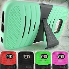 For Samsung Galaxy S6 Case - Hard Hybrid Kickstand Protective Impact Phone Cover