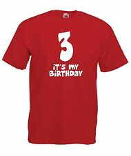 THIRD 3rd funny party present BIRTHDAY christmas gift ideas  boys girls T SHIRT