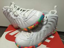 "**NIKE FOAMPOSITE "" FRUITY PEBBLES "" KIDS SIZE 5C-7Y GS 644791-100 PRE ORDER"