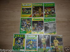 Norwich City  Home Programmes 1980's .  Select from list