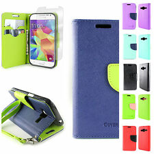 Wallet Phone Case Cover and Screen for Samsung Galaxy Prevail LTE / Core Prime
