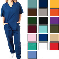Medical Scrub Set Unisex Men Women Cargo Pant & 3 pocket V-Neck Top / Scrubs Set