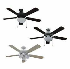 "Living Traditions 52"" Tri-Mount 3 Speed 5 Blade Home Ceiling Fan 