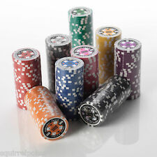 Poker Chips - 15G Heavy Red Poker Chips in 25pcs per Roll Value - Many Values