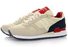 Men's Saucony Shadow Original Cream Navy Red S2108-581 Running Trainer