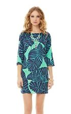 $198 Lilly Pulitzer Carol Shift Dress New Green Under The Palm Fall Favorite 0/2
