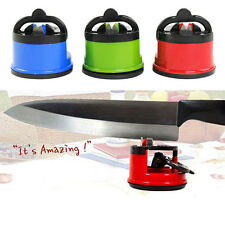 Knife Sharpener Scissors Grinder Secure Suction Chef Pad Kitchen Utensil Tool