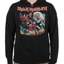 Licensed IRON MAIDEN The Number of the Beast Black Sweatshirt Zip Up Hoodie