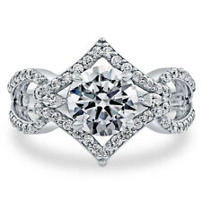 BERRICLE Sterling Silver 2.65 Carat Round Cut CZ Solitaire Engagement Ring