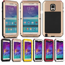 Shockproof Aluminum Gorilla Glass Metal Case Cover For Samsung Galaxy Note 4 #ll