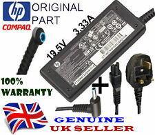 Genuine HP Charger Blue Tip 19.5V 3.33A 65W Original Adapter With UK Power Cable