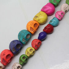 10x12x13,15x17x18mm Multicolor Turquoise Skull Loose beads 15""