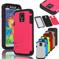 For Samsung Galaxy S5 i9600 Wrap Up Built-in Screen Full Body Hard Case Cover
