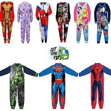 Spiderman Frozen Princess Elsa Onesie Size 3 4 5 6 7 8 9 10 Years Girls Boys PJ