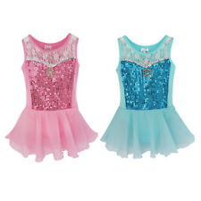 Girls Kids Dancewear Ballet Dance Dress Tutu Leotard Skate Skirt Party Dresses