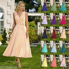 Stock Sexy Short Bridesmaid Dress Party Gown Evening Cocktail Ball Wedding