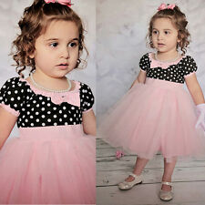 Beautiful Polka  Dot Girls Pageant Dresses Formal Kids Party Wedding Gowns 2015