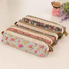 Unique Flower Floral Lace Pencil Pen Case Cosmetic Makeup Bag Zipper Pouch  z111