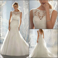 Free Shipping! New Fromal Sexy White Lace Sweetheart Wedding dresses size 4--16W